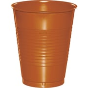 Touch of Color Pumpkin Spice Orange 16 oz Plastic Cups 20 pk (323389)
