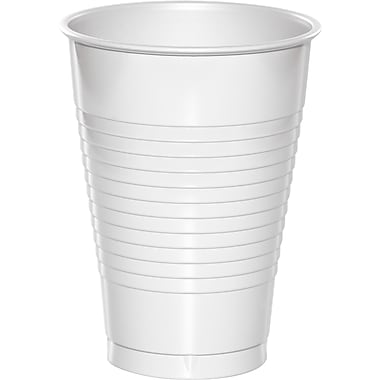 Touch of Color White 12 oz Plastic Cups 20 pk (28000071)