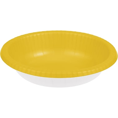 Touch of Color School Bus Yellow Paper Bowls 20 pk (173269)