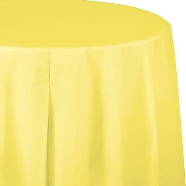 Touch of Color Mimosa Yellow Round Plastic Tablecloth 1 pk (703266)