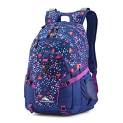 High Sierra Loop Triangle Party Backpack, Navy/Purple Triangle Pattern (53646-7655)