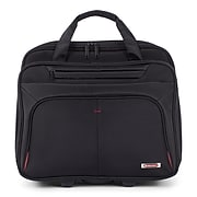 Swiss Mobility Polyester Purpose Business Case On Wheels, 1680D, Black (BZCW1002SMBK)