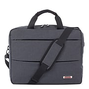 Swiss Mobility Elevate Polyester Briefcase, Grey (EXB1022SMGRY)