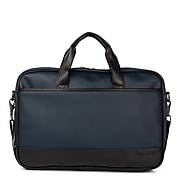 Swiss Mobility Gin & Twill Vegan Leather Executive Briefcase, Navy (EXB2020BU-NAVY)
