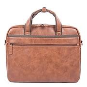 Swiss Mobility Vegan Leather Valentino Executive Briefcase, Cognac (EXB532-COGNAC)