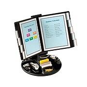 """Aidata 14""""H x 21""""W x 9""""D Metal Display Panel Holder, Black (FDS021L)"""
