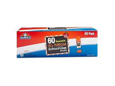 Elmer's All Purpose School Permanent Glue Sticks, 0.24 Oz., 60/Pack (E501)