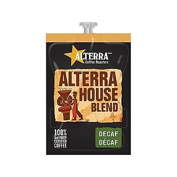 Alterra Flavia House Blend Decaf Pods Coffee, Light Roast, 100/Carton (MDRA187)