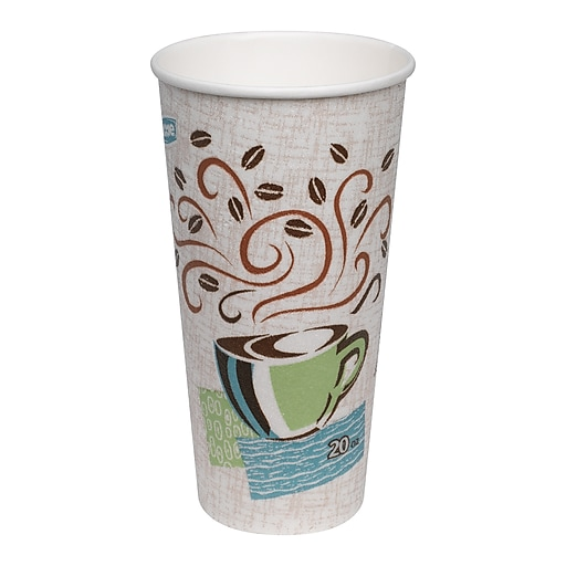 Dixie® PerfecTouch® Insulated Hot Cup by GP PRO, 20 oz , Coffee Haze,  25/Pack (5360CD)