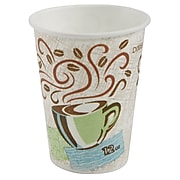 Dixie PerfecTouch Paper Hot Cups, 12 oz., Coffee Haze, 500/Carton (5342DX)