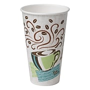 Dixie PerfecTouch Paper Hot Cups, 16 oz., Coffee Haze, 500/Carton (5356DX)