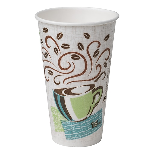Dixie® PerfecTouch® Insulated Paper Hot Cup, 16 Oz , Coffee Haze,  500/Carton (5356DX)