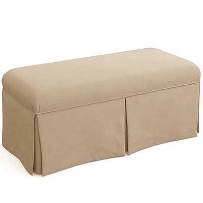 Skyline Furniture Skirted Bench in Linen Sandstone (3125SKLNNSND)