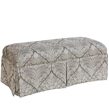 Skyline Furniture Skirted Bench in Georgette Pewter (3125SKGRGPWT)