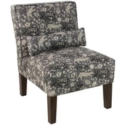 Skyline Furniture Armless Chair in Leopard Texture Charcoal (5705LPRTXTCHR)