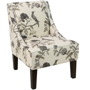 Skyline Furniture Swoop Arm Chair in Shaana Ink (72-1SHNINKOGA)