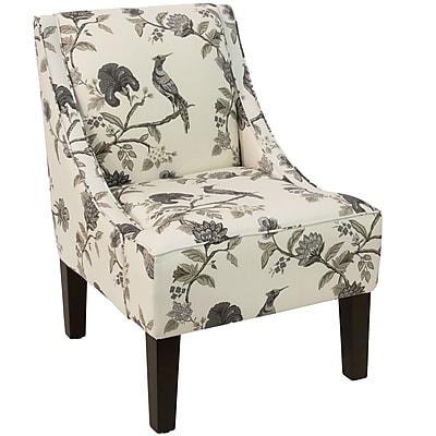Skyline Furniture Swoop Arm Chair in Shaana Ink (72-1SHNINKOGA)