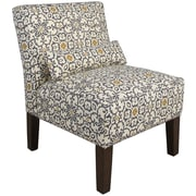 Skyline Furniture Armless Chair in Souvenir Scroll Fog (5705SVNSCRFG)