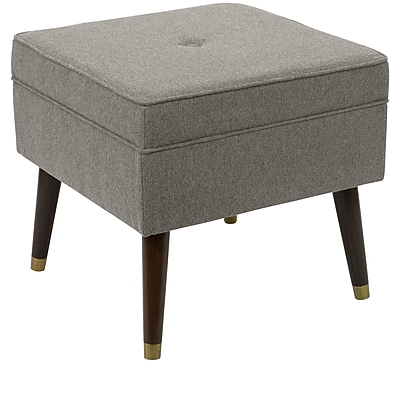 Skyline Furniture Ottoman with Splayed Legs in Flair Smoke (44-2STFLRSMK)