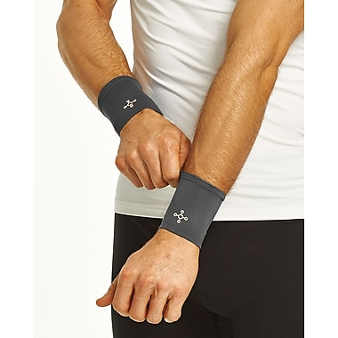 Tommie Copper Men's Core Compression Wrist Sleeve, Slate Grey, Small (1601UR)