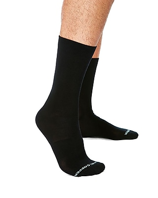 Tommie Copper Men's Core Compression MicroModal® Crew Socks Black Size 9-11.5 (1729MR)