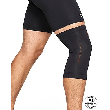 Tommie Copper Men's Core Compression knee Sleeve, Black, XL (0320UR)