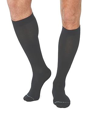 Tommie Copper Men's Core Compression MicroModal® Over The Calf Socks, Charcoal, 9-11.5 (1733MR)