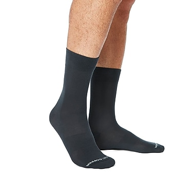 Tommie Copper Men's Core Compression MicroModal® Crew Socks Charcoal Size 6-8.5 (1729MR)