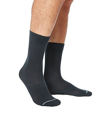 Tommie Copper Men's Core Compression MicroModal® Crew Socks Charcoal Size 9-11.5 (1729MR)