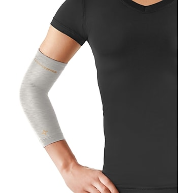 Tommie Copper Women's Core Compression Elbow Sleeve, Silver Heather, Large (0503UR)