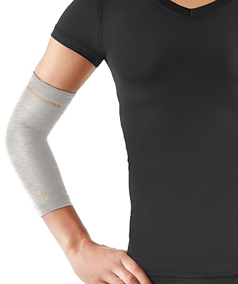 Tommie Copper Women's Core Compression Elbow Sleeve, Silver Heather, Medium (0503UR)