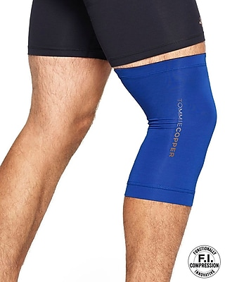 Tommie Copper Men's Core Compression knee Sleeve, Cobalt Blue, 2XL (0320UR)