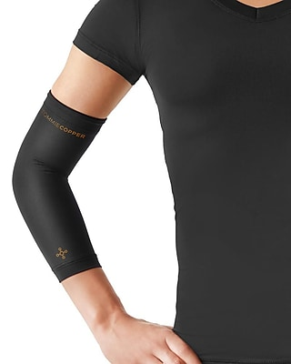 Tommie Copper Women's Core Compression Elbow Sleeve, Black, Small, (0503UR)