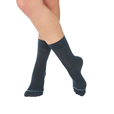 Tommie Copper Women's Core Compression MicroModal® Crew Socks Charcoal Size 7-9.5 (1729WR)