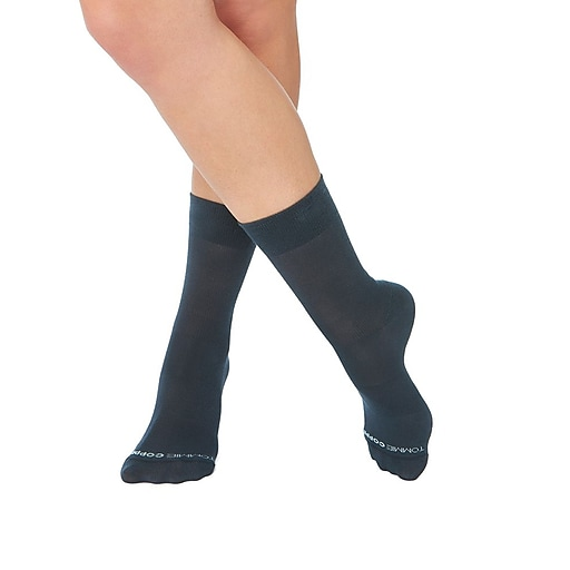 5a92f970e9 Tommie Copper Women's Core Compression MicroModal® Crew Socks Charcoal Size  4-6.5 (1729WR. https://www.staples-3p.com/s7/is/