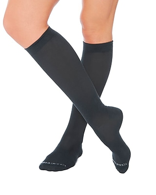 Tommie Copper Women's Core Compression MicroModal® Over The Calf Socks, Charcoal, 10-12.5 (1733WR)