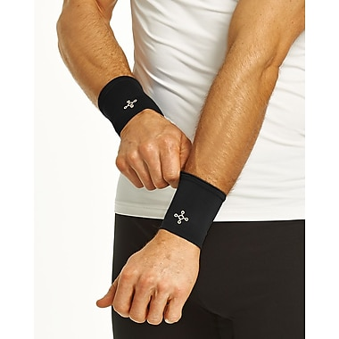 Tommie Copper Men's Core Compression Wrist Sleeve, Black, Large (1601)