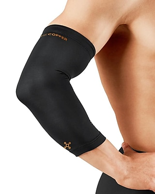 Tommie Copper Men's Core Elbow Sleeve, Black, Large (0503UR)