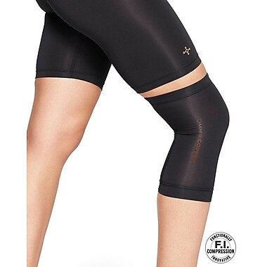 Tommie Copper Women's Core Compression knee Sleeve, Black, Large (0320UR)