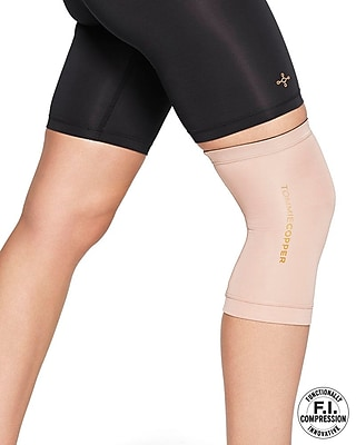 Tommie Copper Women's Core Compression knee Sleeve, Nude, Large (0320UR)