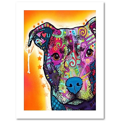 Trademark Fine Art Dean Russo 'Heart U Pit Bull' 18