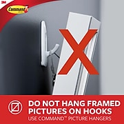 Command™ Sawtooth Picture Hanger, White, 3 Hangers (17042-ES)