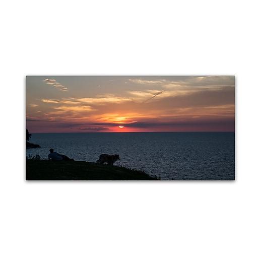 "Trademark Fine Art Kurt Shaffer 'Front Row to a Beautiful Sunset' 12"" x 24"" Canvas Stretched (190836003280)"