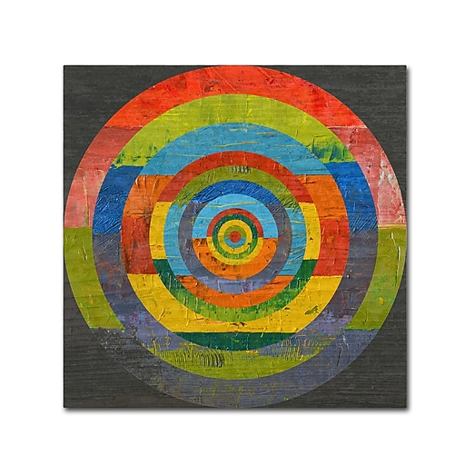 """Trademark Fine Art Michelle Calkins 'Full Circle 2.0' 18"""" x 18"""" Canvas Stretched (190836073597)"""