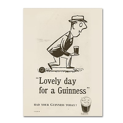 Trademark Fine Art Guinness Brewery 'Lovely Day For A Guinness II' 14
