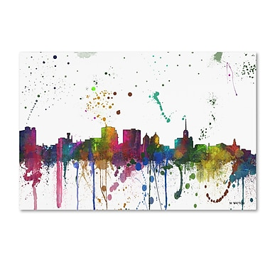 Trademark Fine Art Marlene Watson 'Buffalo New York Skyline Mclr-1' 12