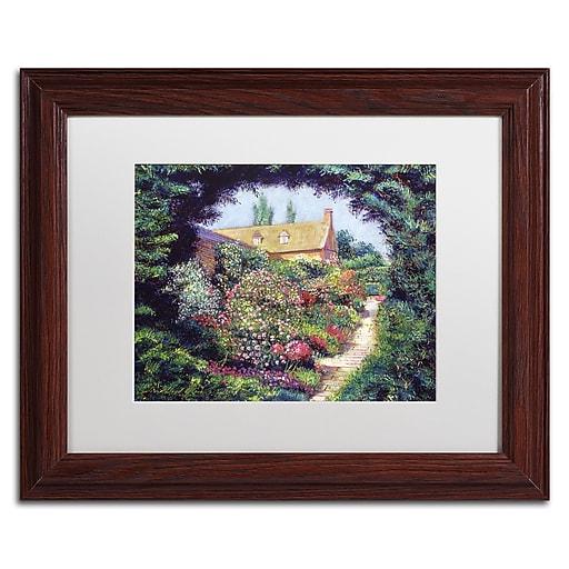 "Trademark Fine Art David Lloyd Glover 'English Garden Stroll' 11"" x 14"" Matted Framed (190836227761)"
