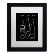 "Trademark Fine Art Claire Doherty 'Coca Cola Bottle Patent 1937 Black' 11"" x 14"" Matted Framed (886511940154)"