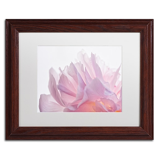 "Trademark Fine Art Cora Niele 'Pink Peony Petals VI' 11"" x 14"" Matted Framed (190836308088)"