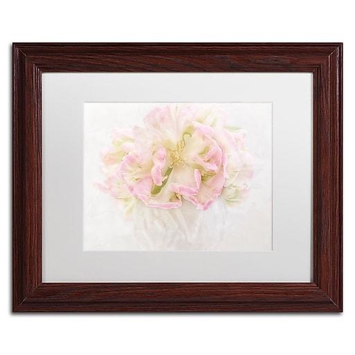 "Trademark Fine Art Cora Niele 'Pink Parrot Tulips Bouquet' 11"" x 14"" Matted Framed (190836259489)"